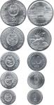 Набор монет Северная Корея 1959-1987 (5 монет)
