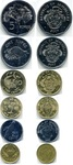 Набор монет Сейшелы 2004-2007 г (6 монет)