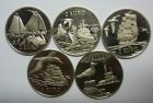 Набор 5 монет 2 евро 1997 Корабли Нидерланды