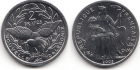 Монета Новая Каледония 2 франка Алюминий 2003 (UNC)
