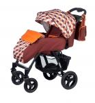Прогулочная коляска babyhit Travel Air коричневый с оранжевым