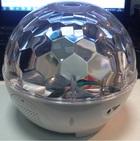 Светодиодный вращающийся Диско-шар с аккумулятором Fu-082 белый