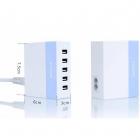 Сетевая зарядка Remax RU-U1 на 5 USB портов (бирюзовый)