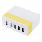 Сетевая зарядка Remax RU-U1 на 5 USB портов (желтый)