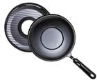 Сковорода Чудо Гриль-Газ Ангтипригарное покрытие, съёмная ручка (диаметр 32 см)