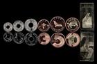 Набор из 7 монет Галапагосские острова 2008 UNC