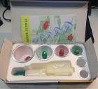 Пластиковые банки для вакуумного массажа с магнитами (6 шт)