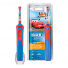 Электрическая зубная щетка Oral-B Stages Power Тачки D12.513K, синий/красный