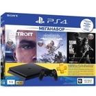 Игровая приставка Sony PlayStation 4 Slim 1TB + Horizon: Zero Dawn +Detroit + The Last of Us (Одни из нас) + Подписка PS Plus 3 мес. (CUH-2208B)