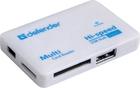 Картридер Defender COMBO TINY usb hub 3 порта (83502)