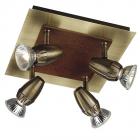 Светильник для акцентного освещения FORTUNA bronze 4x50W Massive 55214/74/10