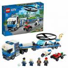 Конструктор LEGO City 60244 Полицейский вертолётный транспорт