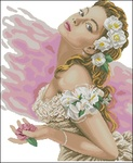 Набор для вышивания Lanarte Дама с камелиями (pn-0144530)