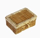 Натуральный кристаллический дезодорант (Tawas Crystal) порошок в бамбуковой шкатулке (10 пакетиков по 20 г)