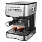 Кофеварка рожковая Zigmund & Shtain Al Caffe ZCM-850, стальной
